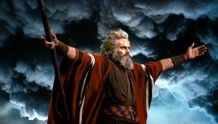 Charlton Heston is Moses