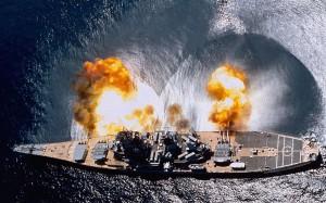 Battleship Primary canon shooting